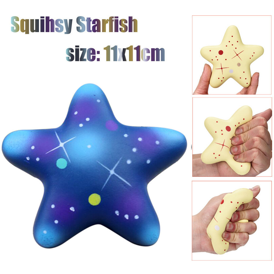 CCCZQ toy Exquisite Fun Galaxy Star fish Scented Squishy Charm Slow Rising 11cm Kids Toys MAY 23