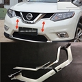 ABS Cromado Parrilla Delantera Parrilla Cubierta Fundas para 2014 2015 2016 Nissan X-trail Rogue T32 X Trail XTrail Car Styling Accesorios 4 unids