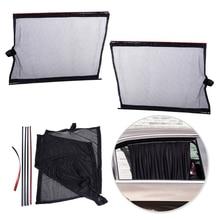 DWCX 2pcs Black Car Sun Shade UV Proof Side Window Mesh Curtain Visor Shield Protector Cover for VW Audi Ford BMW Chevrolet