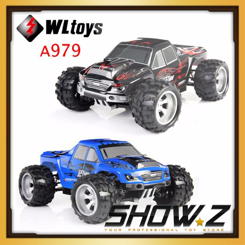 ФОТО [Show.Z RC] Wltoys A979 1/18 2.4GHz 4WD High Speed Monster 50Km/H Rc Racing Car With Transmitter RTR Control More Than 100m