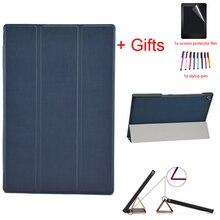 Ultra Slim Case для sony Xperia Z2 10,1 дюймов Tablet Флип Кожа PU Стенд защитный чехол складной принципиально чехол + пленка + ручка