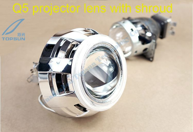 GZTOPHID 3.0 Koito Q5 HID Bi-xenon Projector Lens LHD For Car Headlights With The Cover /Shroud Using D1S D2H D2S D3S D4S gztophid 3 inches koito q5 h4 bi xenon projector lens for car headlight using d2h xenon bulbs quick install free shipping