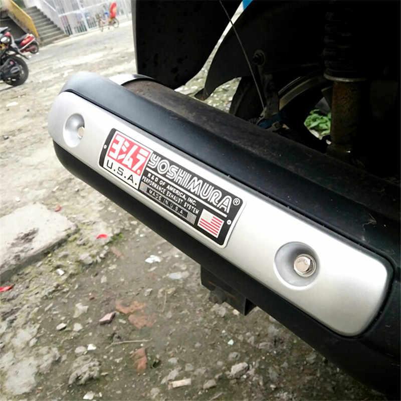 3D الألومنيوم الحرارة مقاومة دراجة نارية العادم الأنابيب ملصق لاصق لامع ورائع ل العقرب يوشيمورا Akrapovic اثنين الأخ السهم MIVV Leovince