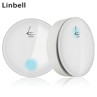 Linbell G3 Self power kinetic wireless doorbell EU/US/UK Plug long range door rings home ring night light 1 button 1 2 Receiver