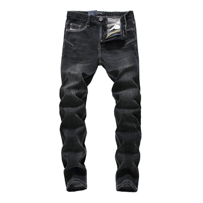 Spring Autumn Men s Jeans Fashion Middle Waist Slim Fit Pencil Denim Trousers Male High Elasticity