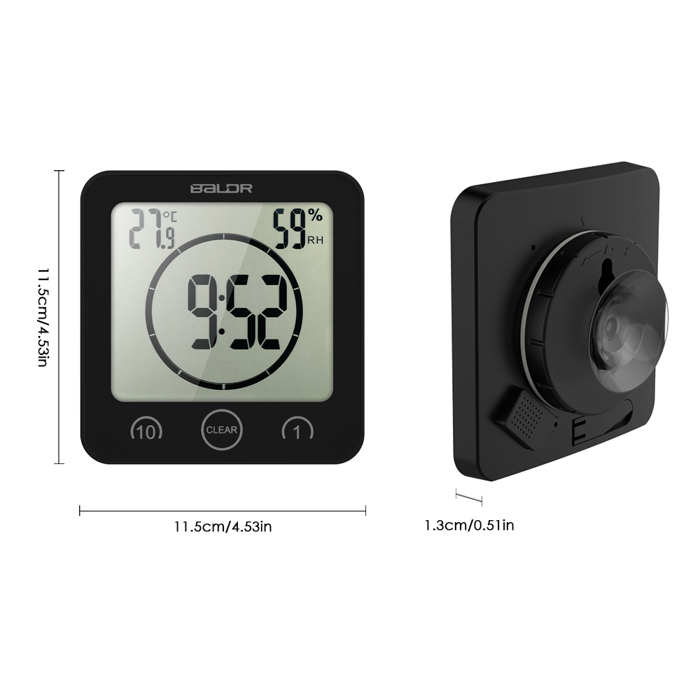 Bon LCD Digital Wall Clock Digital Bathroom Clock Waterproof Shower Clock Timer  Temperature Humidity Wall Shower Clock ...