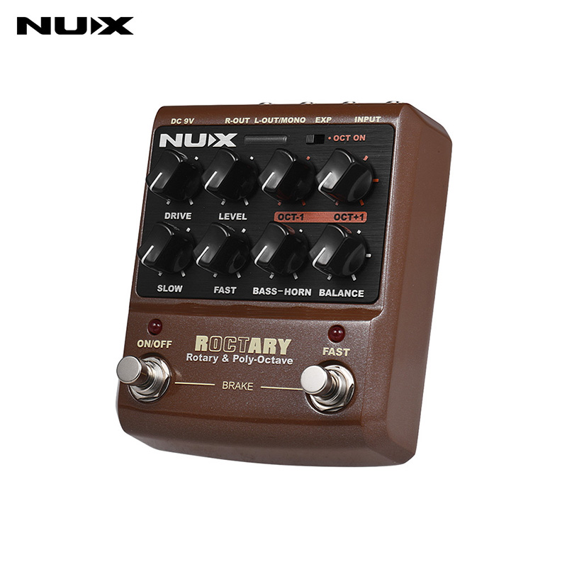 NUX ROCTARY Force Effet Guitare Pédale 2-en-1 Haut-Parleur Rotatif Simulateur Polyphoniques Octave Effet Guitare pédale guitare Accessoires