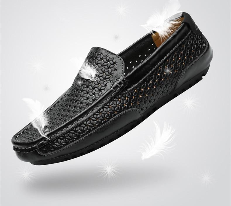 HTB1ufwKMYrpK1RjSZTEq6AWAVXaD Summer Men Shoes Casual Luxury Brand Genuine Leather Mens Loafers Moccasins Italian Breathable Slip on Boat Shoes Black JKPUDUN