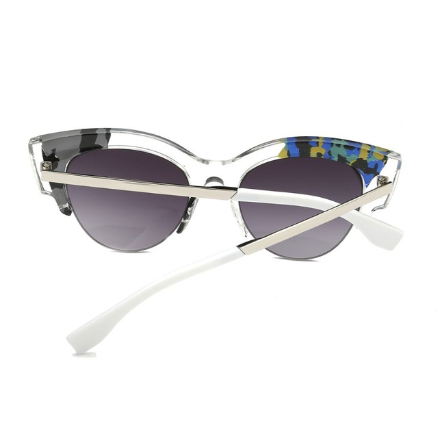 Retro Sunglasses with Transparent Frame