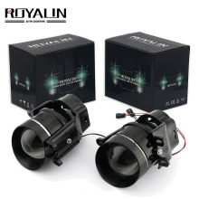 ROYALIN For Camry Fog Lights Lens Bi-xenon H11 D2S Halogen Projector for Toyota Corolla Peugeot Citroen Prius Car Fog Lamp Retro free shipping high quality halogen fog lights lamps for toyota corolla altis 2011 on 55w 12v h11