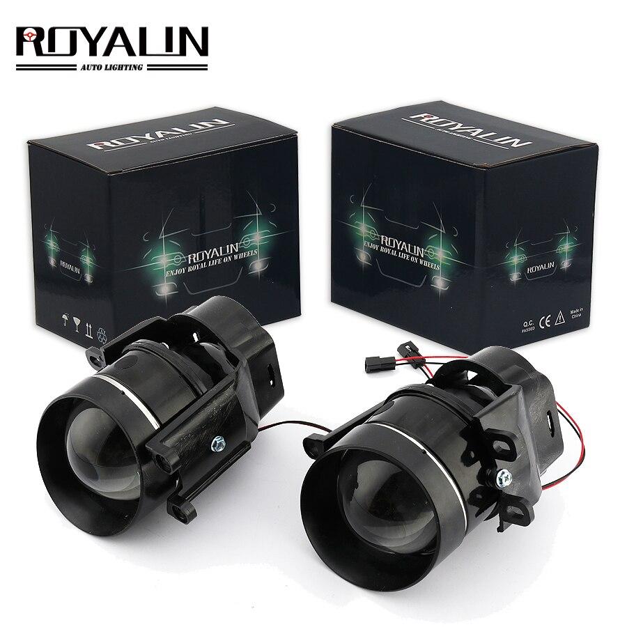 ROYALIN pour Camry antibrouillard lentille bi-xénon H11 D2S projecteur halogène pour Toyota Corolla Peugeot citroën Prius voiture antibrouillard rétro