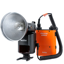 Godox Witstro AD360II-C TTL 360W GN80 Powerful Speedlite Flash Light+PB960 Power Battery Pack Orange for Canon EOS Camera godox propac pb960 backup power pack battery chamber for replacement 4500mah black