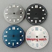 31 мм регулируемый ETA 2824 2836 MIYOTA серии 82 механизм черный/серый/синий/серебристо белый циферблат для часов P917