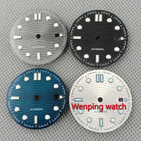 31mm Adjust ETA 2824 2836 MIYOTA series 82 movement black/gray/blue/silver white sterial Watch dial P917