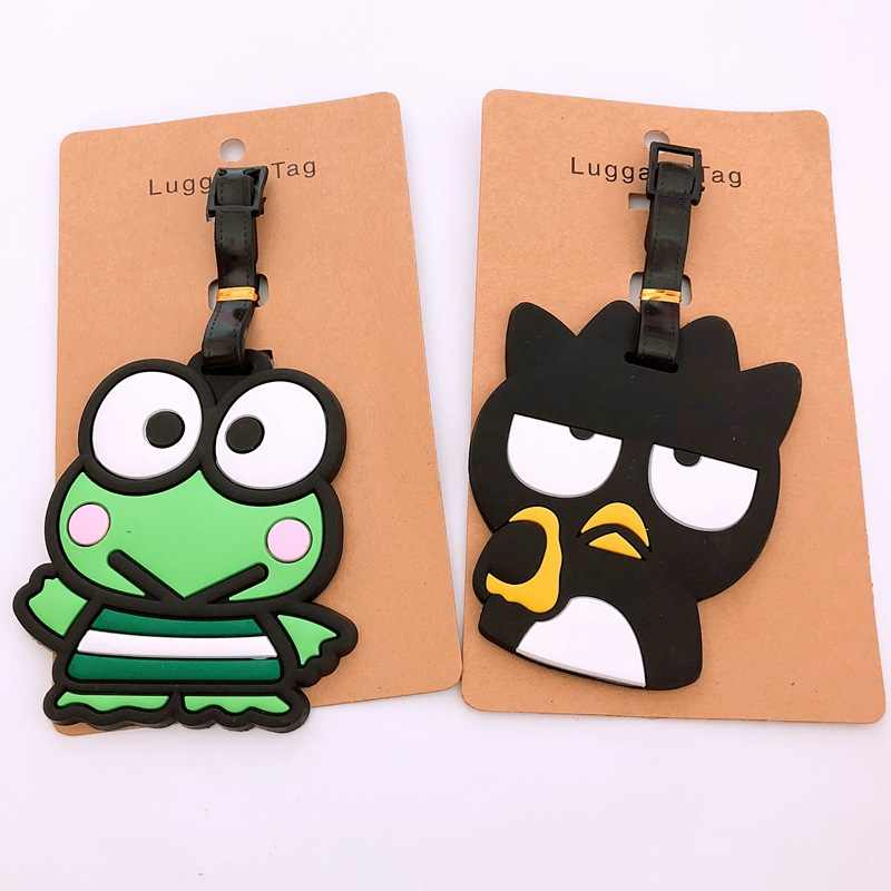 Dos desenhos animados Olá Kitty PVC keychain pássaro coelho sapo moda bonito da novidade do divertimento bagagem pendurar sacos de bagagem tag cartão de embarque de viagem