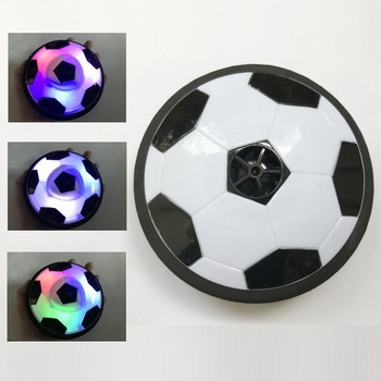 11cm Air Power Soccer Disc Indoor Football Toy Colorful Light Flashing Ball Toys kids sport game Children's Educational gift