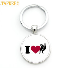 TAFREE Brand novelty fashion Love Judo Karate keychain exquisite popular women men casual sports key chain ring jewelry SP578(China)