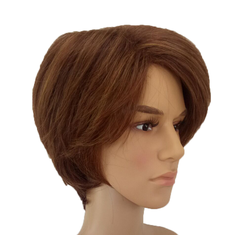 Image 3 - HAIRJOY Man  Layered Synthetic Hair Wig  Short  Brown  Wigs Free Shippingwig brownwigs freewigs free shipping -