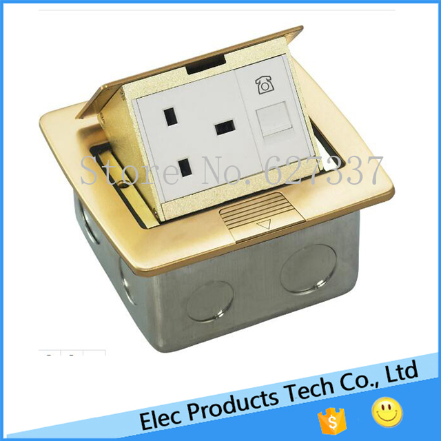Ground/Silver Socket Floor Power Outlet Box,Manual pop up floor ...