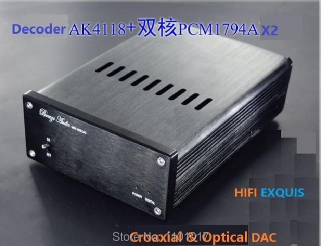 Weiliang Breeze аудио WBA-1794D PCM1794 X2 ЦАП коаксиальный и SPDIF digitals аналоговый преобразователь HIFI Exquis