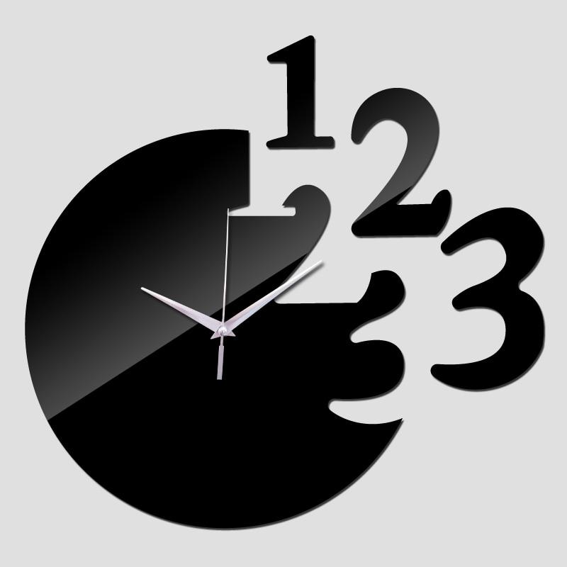 372f8ab98 2016 جديد حار بيع الساعات ووتش ساعة الحائط غرفة المعيشة 3d الاكريليك مرآة  ملصقات ووتش murale مجانية