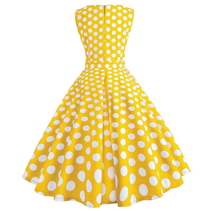 Retro letné párty šaty 1950 s bodkami Swing style (8 variánt) 24