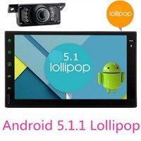 Android 5.1.1 Автомобильный Мультимедийный Плеер Автомобильные ПК Планшеты двойной 2 DIN Wi Fi GPS навигации автомобиля GPS стерео Радио Bluetooth Нет dvd пле