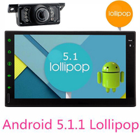 Android 5.1.1 Car Multimedia Player Car PC Tablet Double 2 din wifi GPS Navigation Car gps Stereo Radio Bluetooth NO DVD player