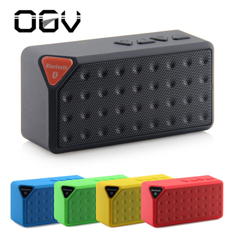 OGV x3 mini Wireless Bluetooth Speaker for phone FM Radio MP3 player USB outdoor Portable Speakers with mic Subwoofer Speaker