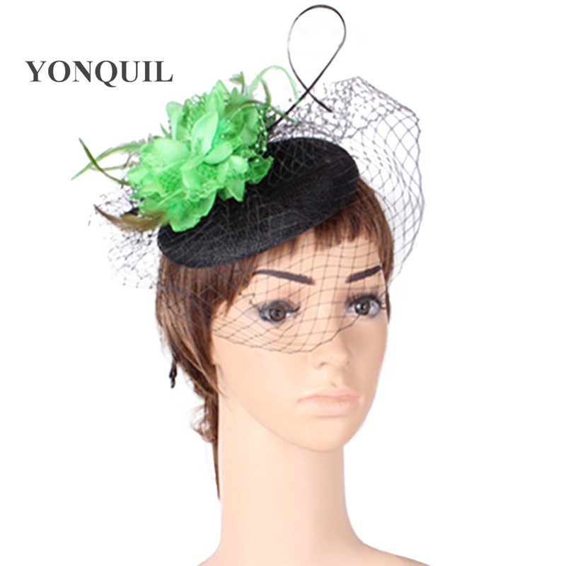 ba710da7fbc06 17 Colors Fashion silk flower wedding fascinator hat party headwear  veilling hair accessories occasion hats and bridal hairstyle