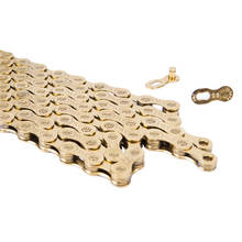 цена на ZTTO Gold 9 Speed Chain MTB Mountain Bike Road Bicycle Chain High Quality Bicycle replacement Chain for Shimano SRAM System