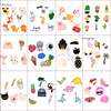 16 Styles Enamel Pin Colorful Carton Pins Set Badge Brooches Collar Badges