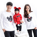 Family Matching Outfits Cartoon Clothes Set Spring Autumn Cotton Mother Father Hoodies Clothes Mother & Kid Long-sleeve T-shirt