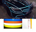 Car styling 9Meter DIY Reflective Sticker Automobile luminous strip car & motorcycle Decoration Decals Vinyl Sticker
