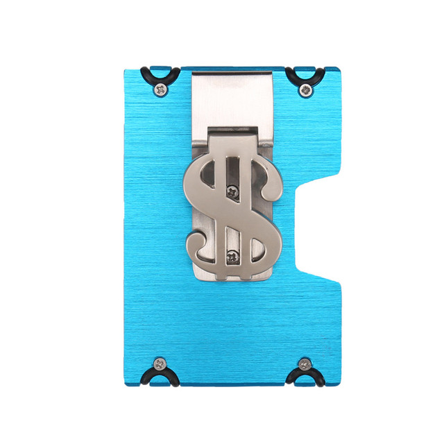 Aelicy Metal Wallet Mini Money Clip Brand Credit Card ID Holder With RFID Anti-chief Wallet 2019 New Design Solid Male Wallet L 5