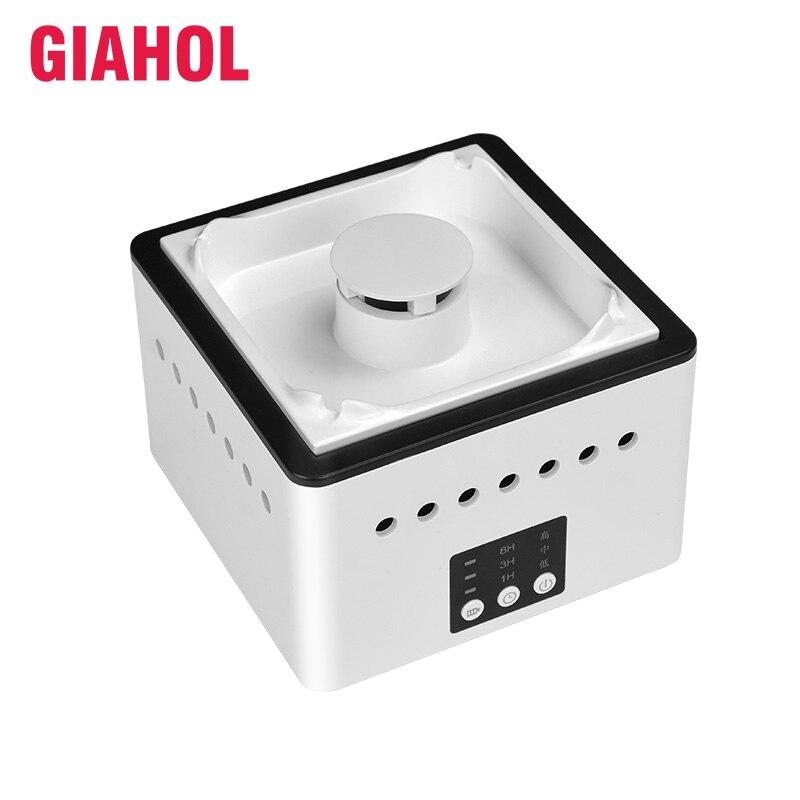 GIAHOL 8000 mAH Batterie Exploité En Céramique ions Négatifs Cendrier Purificateur D'air Avec 4 Cigares Titulaire Cendres Slot Retirer Seconde Main fumée