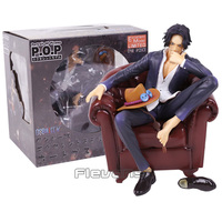Anime One Piece Portgas D Ace with Sofa PVC Figure Collectible Model Toy 15cm