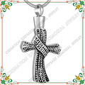 CMJ8598 Fashion Openable Cross Urn Pendant Stainless Steel cremation jewelry keepsake ash necklace