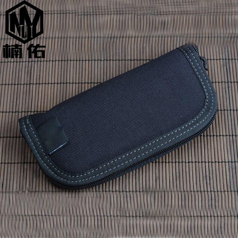 EDC Outdoor Pocket Tool Carbon Fiber Tool Storage Bag Khadullah Nylon Knife Set Multi-folding Knife Bag