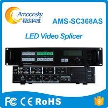 Profissional AMS-SC368AS led processador de emenda sdi vga vídeo sem emenda switcher programável led super tv controlador