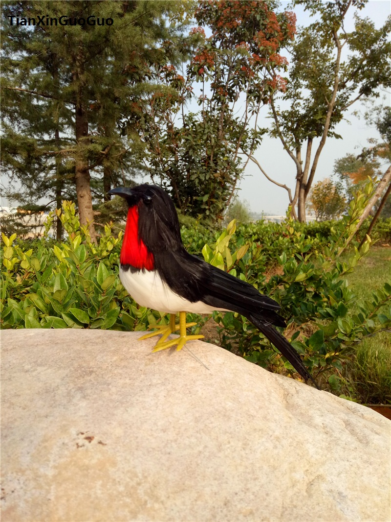 black feathers Swallow hard model,simulation bird about 22cm teaching prop garden decoration gift s0314