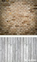 Vintage Brick Wall Photography Muslin Backgrounds Custom 150 200cm White Strip Wood Flooring Backdrop For Photographic
