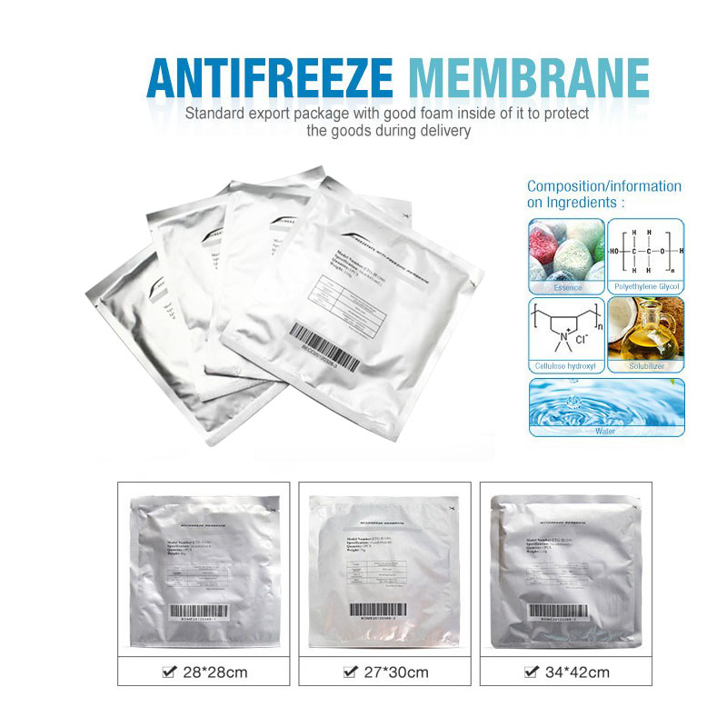 Anti Freeze Membrane Film Cavitation Freeze Fat Cryo Cooling Weight Loss Therapy Cryo Pads Antifreeze Cooling Gel Film 60g