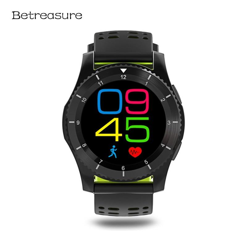 Betreasure GS8 Schermo a Colori di Sport Intelligente Orologio Bluetooth Heart Rate Monitor Orologi Smart Con La Carta SIM Orologio Da Polso Per Il Telefono