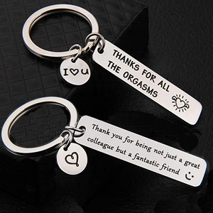 Promo Luxury Custom Keyring Engraved  Key Ring Couple Stainless Steel Best Friends Keychain For Women Men Dad Mom Gift Family Jewelry — bequmcmvl