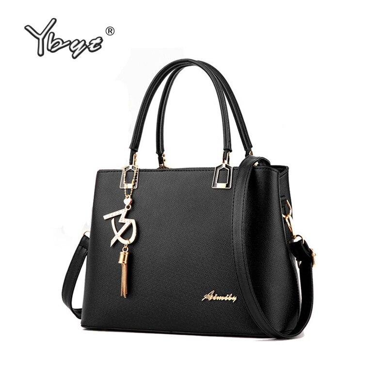 Ybyt бренд 2018 новые высококачественные простые женские Офисные Сумки кольцо дамы портфель сумки плеча Crossbody сумки