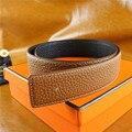 2017 chegada marca original designer de alta qualidade do Couro Genuíno H cintos com fivela ceinture starps com caixa + cartão
