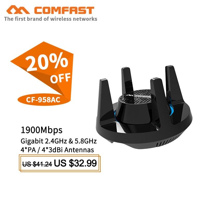 Comfast 4 * PA haute puissance Wifi adaptateur 1900 Mbps Gigabit e-sports carte réseau 2.4G & 5.8G USB 3.0 PC Lan Dongle récepteur pour windows