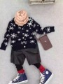 3-7 Years Children Sweaters Shirts baby boys  knitted warm sweater 2015 New Autumn winter Pullover Sweater fancy kids clothing