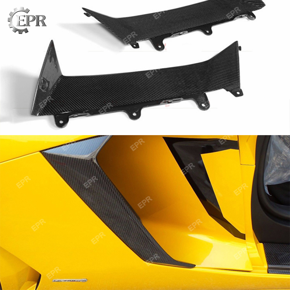 Carbon Side Vent Cover For LAMBORGHINI Aventador LP700 DMC Style Carbon Fiber Side Air Intake Duct Cover Extension Body kit Trim in Body Kits from Automobiles Motorcycles